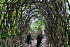 Ponte di legni intrecciati Padernello (BS)