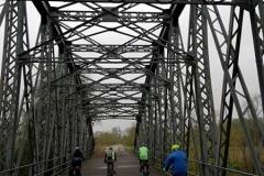 Ponte in ferro sul fiume Oglio