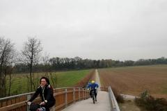 Ponte il legno lamellare sul fiume Oglio