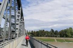 Ponte in ferro sul fiume Po - Cremona