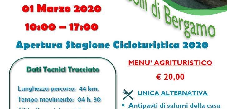 [01] Apertura Stagione Cicloturistica 2020 – Parco dei Colli di Bergamo